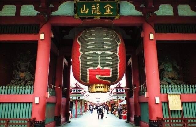 東京の観光地「雷門」イメージ画像