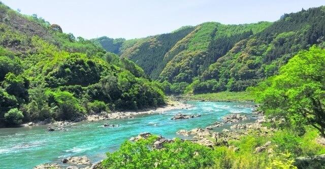 四国地方 高知県の四万十川のイメージ画像