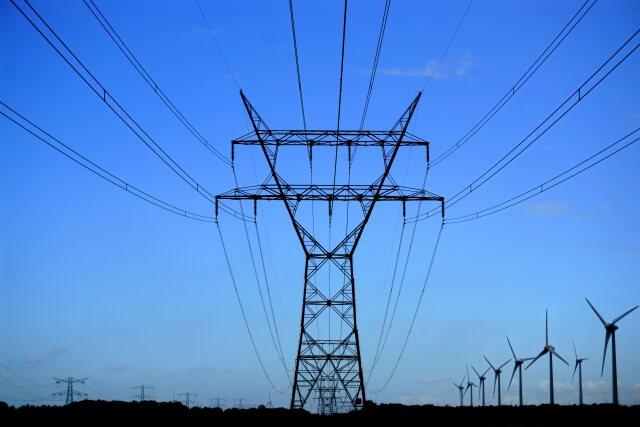 送電線と発電事業のイメージ画像