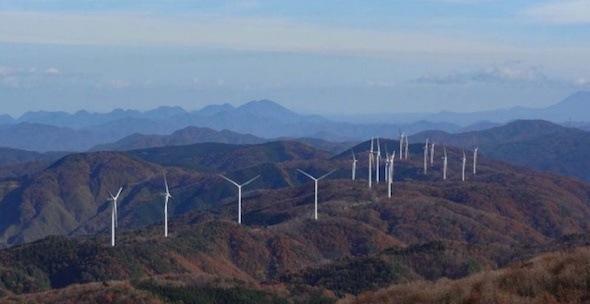 島根県の風力発電の景色画像