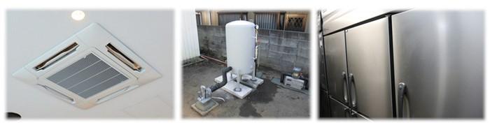 低圧電力で使用する電気機器の例