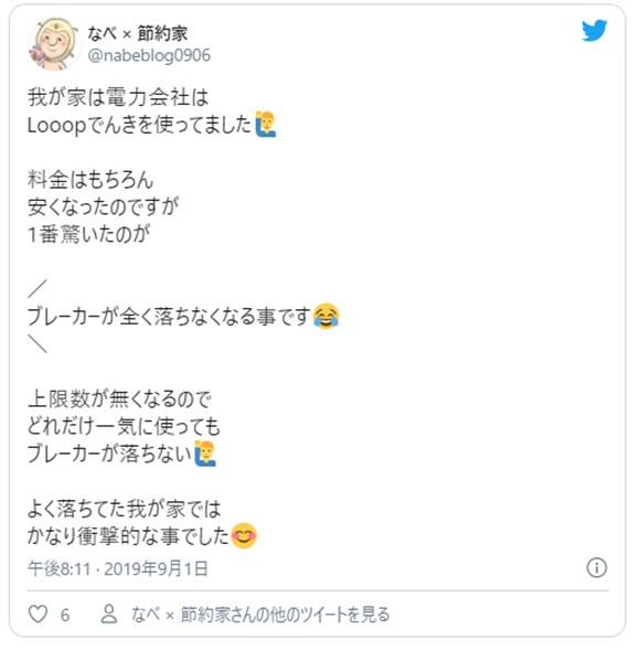 Looopでんきの口コミ情報8