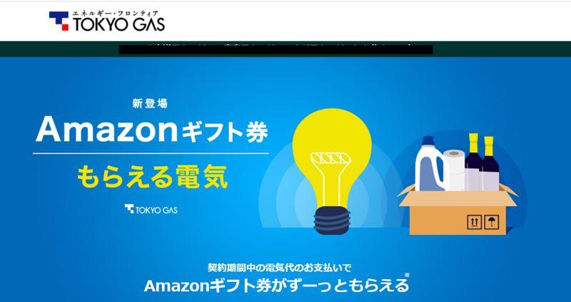 東京ガスもらえる電気